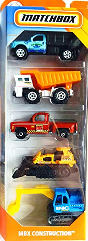 Matchbox 2019 MBX Construction 1:64 Scaled 5-Pack