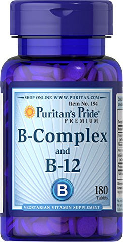Puritan's Pride B-Complex And B-12 180 Tablets