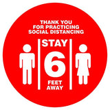 "Imprint 360 ""Thank You for Practicing Social Distancing"" Floor Decal"