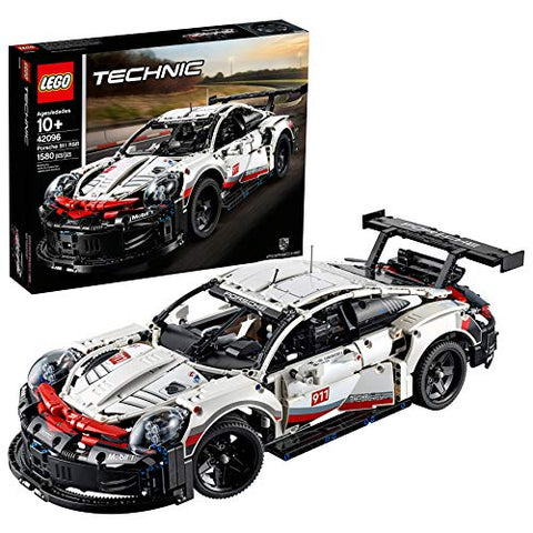 LEGO Technic Porsche 911 RSR 42096 Race Car Building Set STEM Toy (1,580 Pieces)