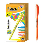 BIC Brite Liner Highlighter, Chisel Tip, Assorted Colors, 24-Count