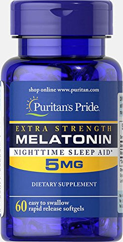 Puritan's Pride Extra Strength Melatonin 5 mg-60 Softgels