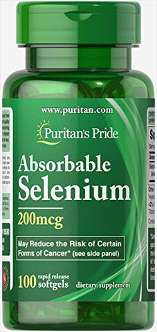 Puritan's Pride Absorbable Selenium 100 Softgels