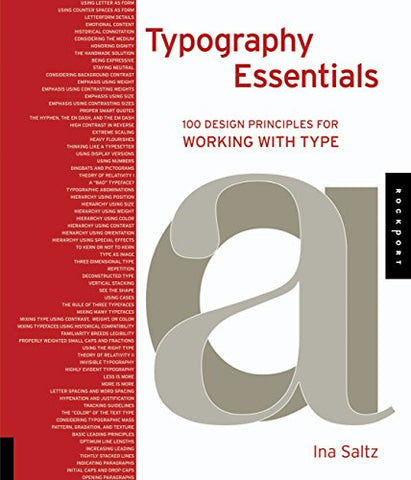 Typography Essentials: 100 Design Principles for Working with Type (Design Essentials)
