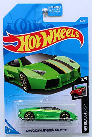 Hot Wheels 2019 HW Roadsters Lamborghini Reventon Roadster 18/250, Green