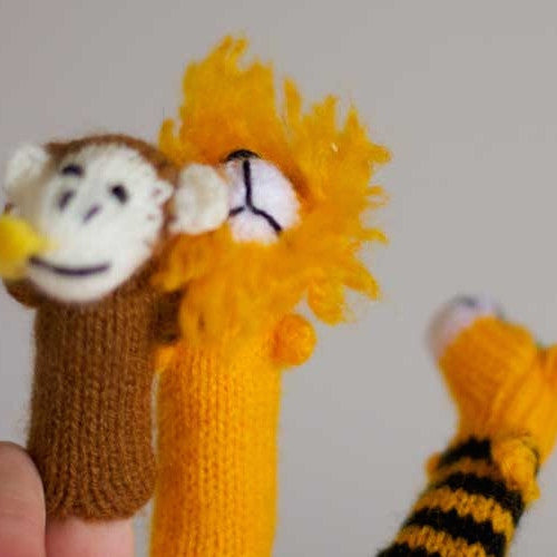 Jungle finger puppet set