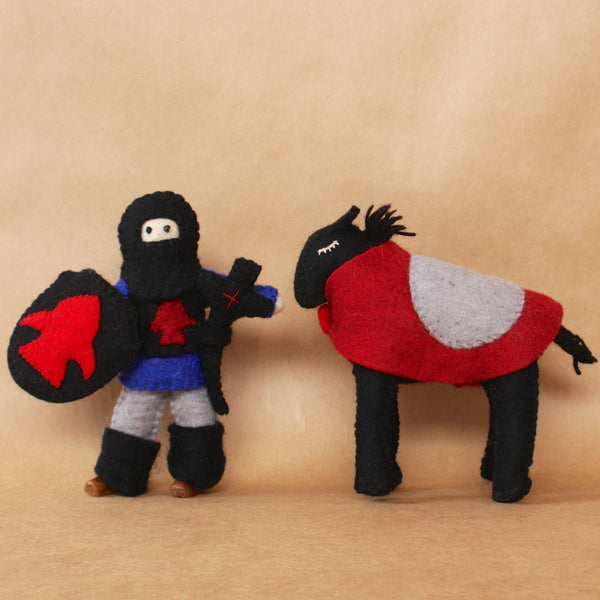 Papoose Colours of Australia ethical boys medieval toy knight and horse Wholesome Gifts Australia.