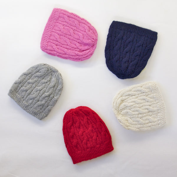 Ethica Accessories natural alpaca woollen beanie. Handmade in Peru. Fair trade kids beanie. Wholesome Gifts.