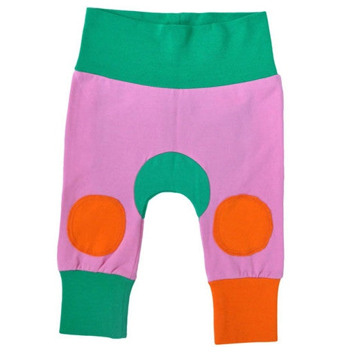 Pink, orange and green baby pants