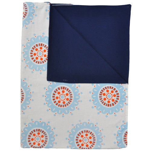 Hand printed blue blanket - Wholesome Gifts
