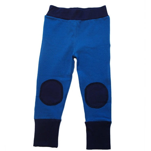 Blue leggings made from organic cotton by Moromini. A Scandinavian baby and kids brand from Sweden.