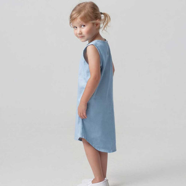 Organic FairTrade singlet style denim dress by ReCreate. Handmade in Cambodia. Designed in New Zealand. Know where your clothes come from. Wholesome Gifts.