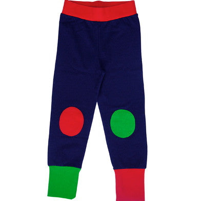 Navy with red and green leggings