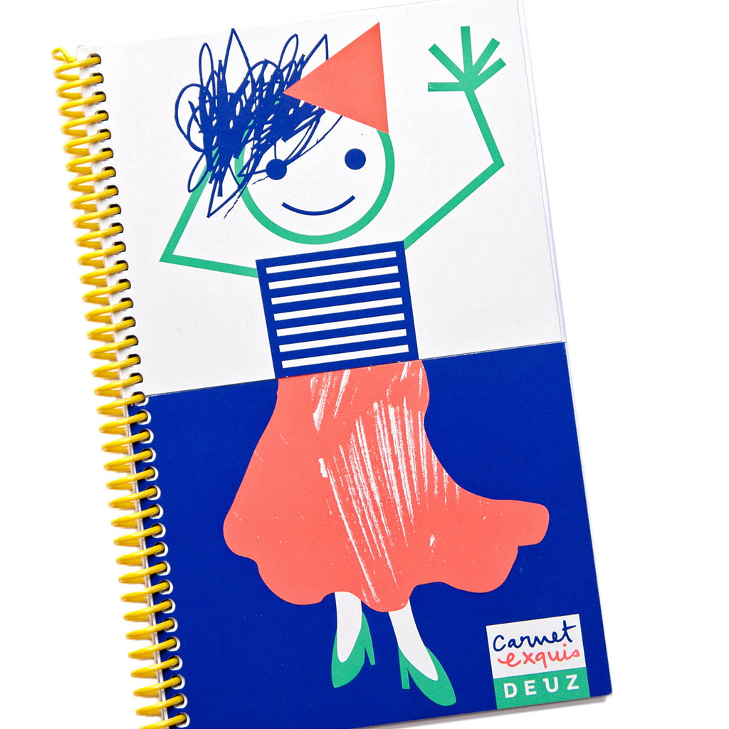Split drawing book girl
