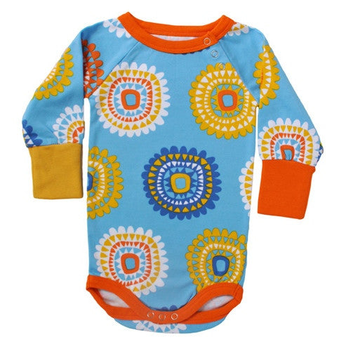 Sunflower long-sleeve onesie