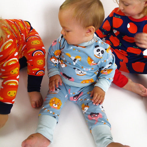 Moromini Australia. Wholesome Gifts. Party with animals organic baby pants
