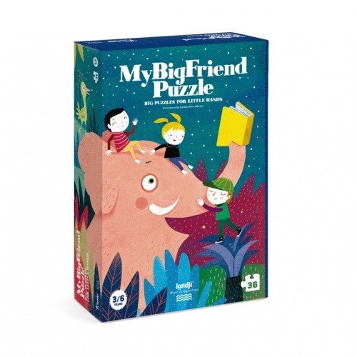 Londji My Big Friend Puzzle. Made from recycled paper. A large eco friendly puzzle for kids. Wholesome Gifts Australia.
