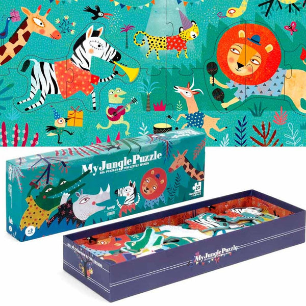 Kids toys. Eco-friendly. Eco-friendly kids toys. Jungle puzzle. Londji My Jungle Puzzle. Made from recycled paper. A large eco friendly puzzle for kids. Wholesome Gifts Australia.