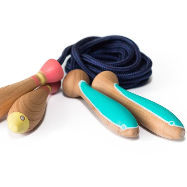 Eco friendly skipping rope. Handmade by Eperfa. Wholesome Gifts Australia. Hand crafted sustainable kids skipping rope.