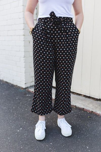 Black & Gold Culottes