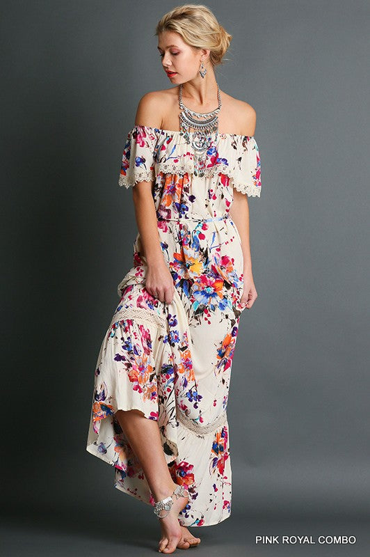 Pretty In Paradise Maxi Dress-Dresses-Southern State of Style, rompers, boho chic dresses, fall dresses, short dresses, maxi dresses, floral dress, bell sleeves, blue dress, black dress, pink dress, homecoming dress, rush dress, dress for engagement photos, bridal shower dress, texas online boutique, san antonio boutique, boerne boutique, southern boutique, floral romper, fall outfit, gameday outfit, teacher outfits, local boutique, fashionable affordable clothes for women, affordable clothes for women, cute outfits