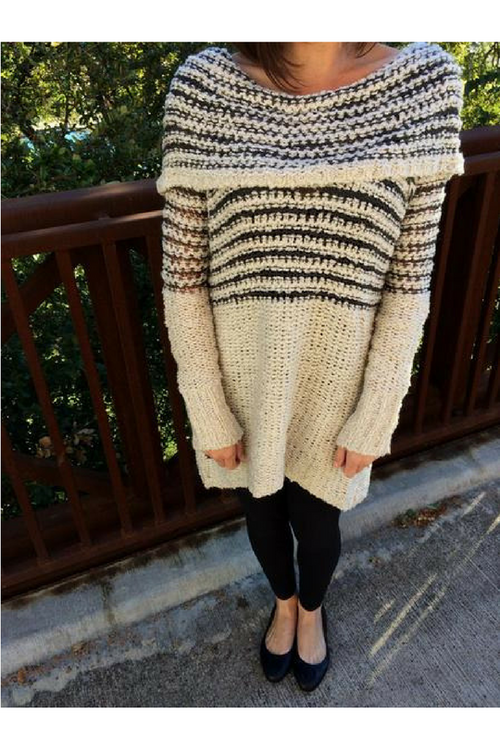 Southern State of Style Online Texas Women's Clothing Boutique - Affordable, Trendy, Boho, Unique - off the shoulder striped sweater, chunky sweater, sweater tunic, charcoal sweater, black sweater, soft sweater, winter clothes, winter outfit, fall outfit, fall style trends, outfit ideas, clothing store