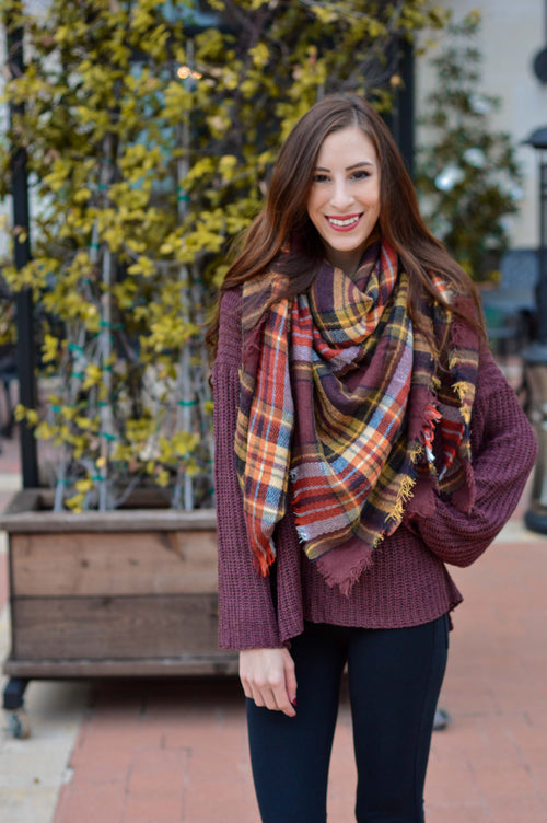 Coffee Date Blanket Scarf