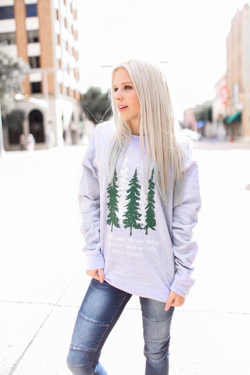 Life Well Loved Sweatshirt-Tops-Southern State of Style, casual, work wear, southern, texas boutique, online boutique, women's clothing boutique, boerne boutique, cute, floral, game day, teacher outfit, fall outfit inspiration, tank top, kimono, long sleeve, boho chic, short sleeve