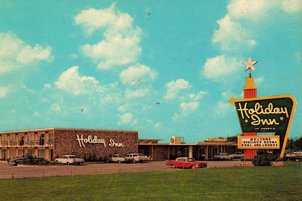 an old photograph of the holiday in great sign - lost collective