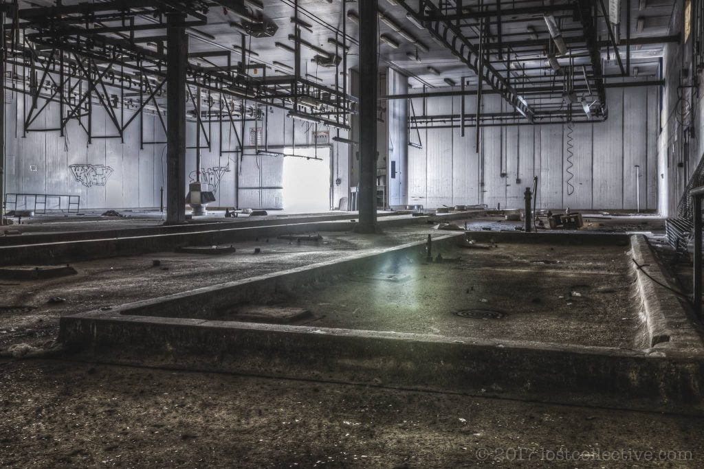 the beef kill floor of an abandoned abattour - creators - lost collective