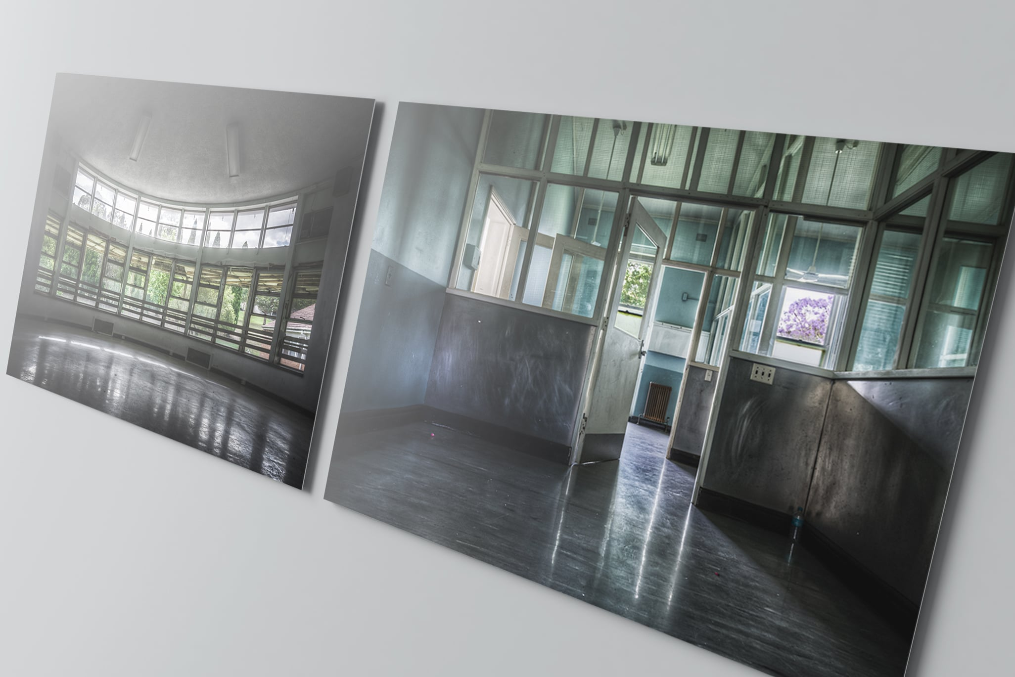 Lost Collective glass prints of Callan Park.