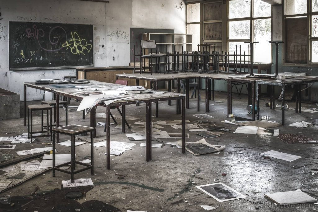 an old art class of macquarie boys technology high - lost collective