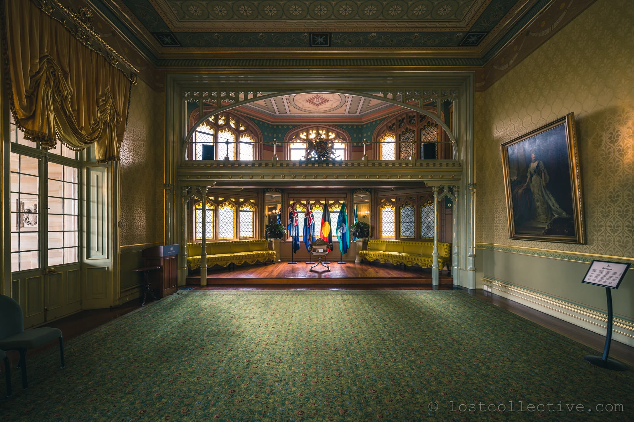 The Government House Ballroom.