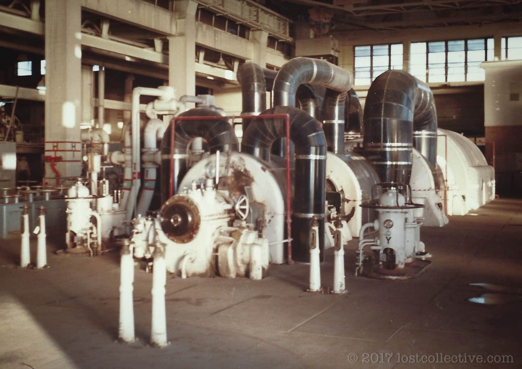 front view of a turbine in wangi power station - lost collective