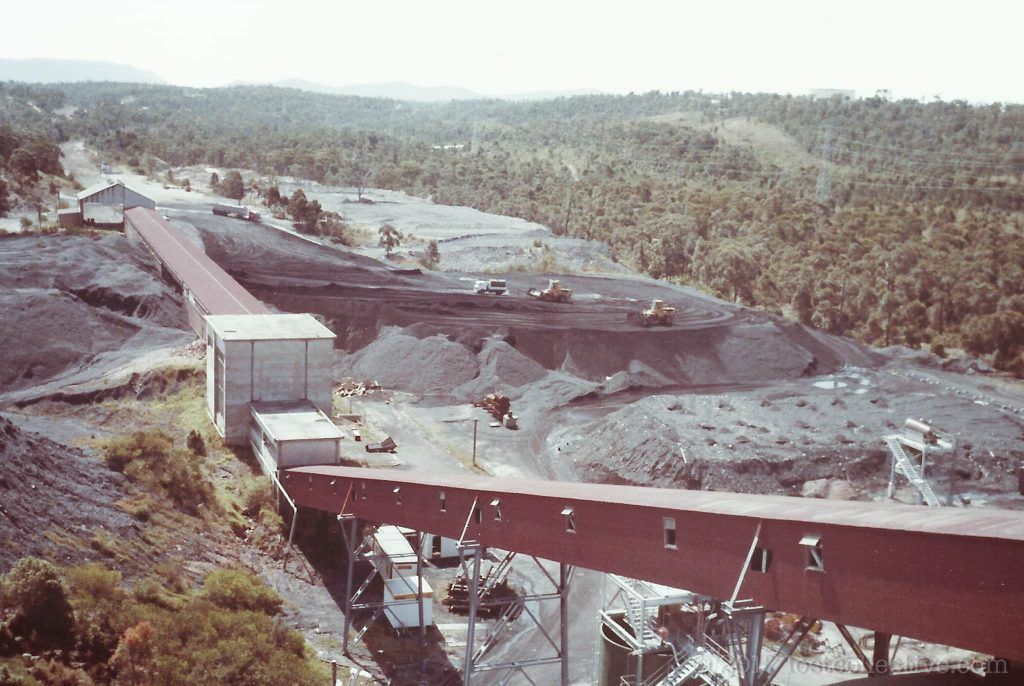 conveyors leading to the coal stockpile of wangi power station - lost collective