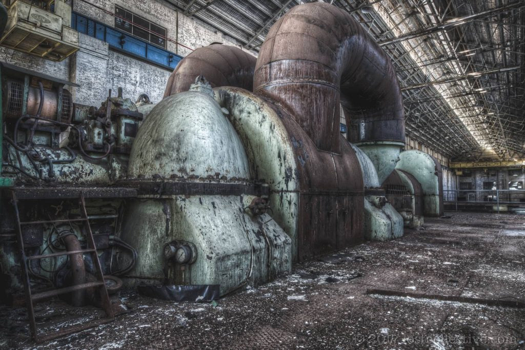 a turbine in white bay power station - stoney roads - lost collective
