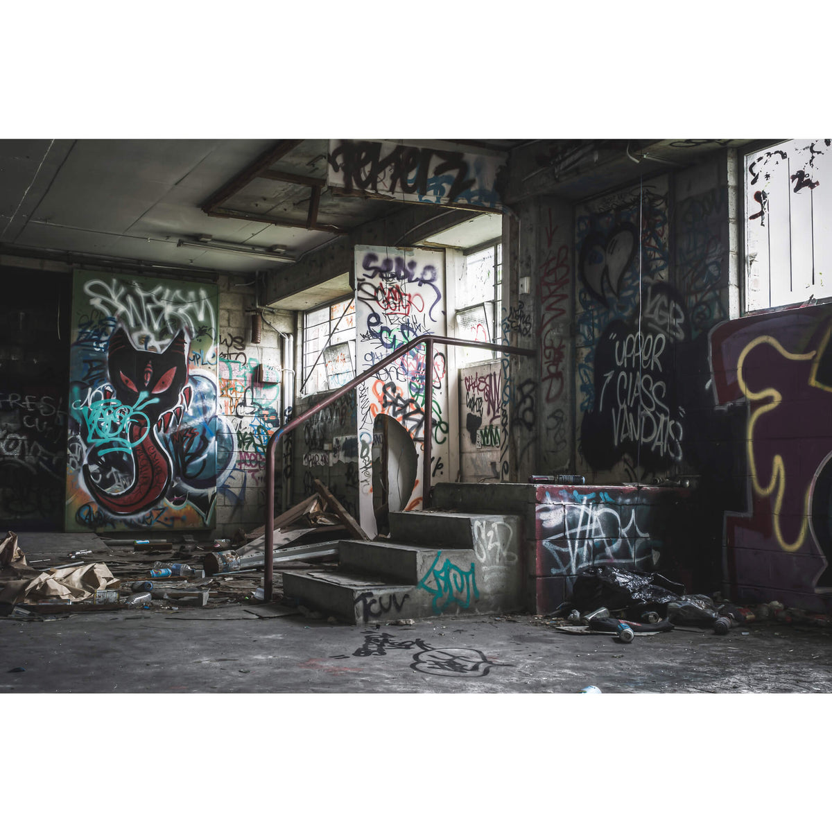Basement Exit | Abandoned Bakery Fine Art Print - Lost Collective Shop