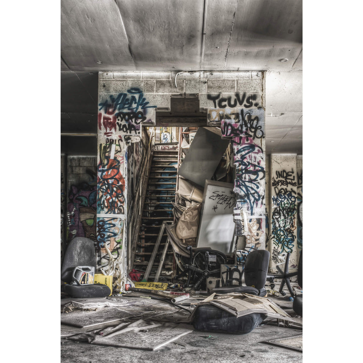 Basement to First Floor | Abandoned Bakery Fine Art Print - Lost Collective Shop