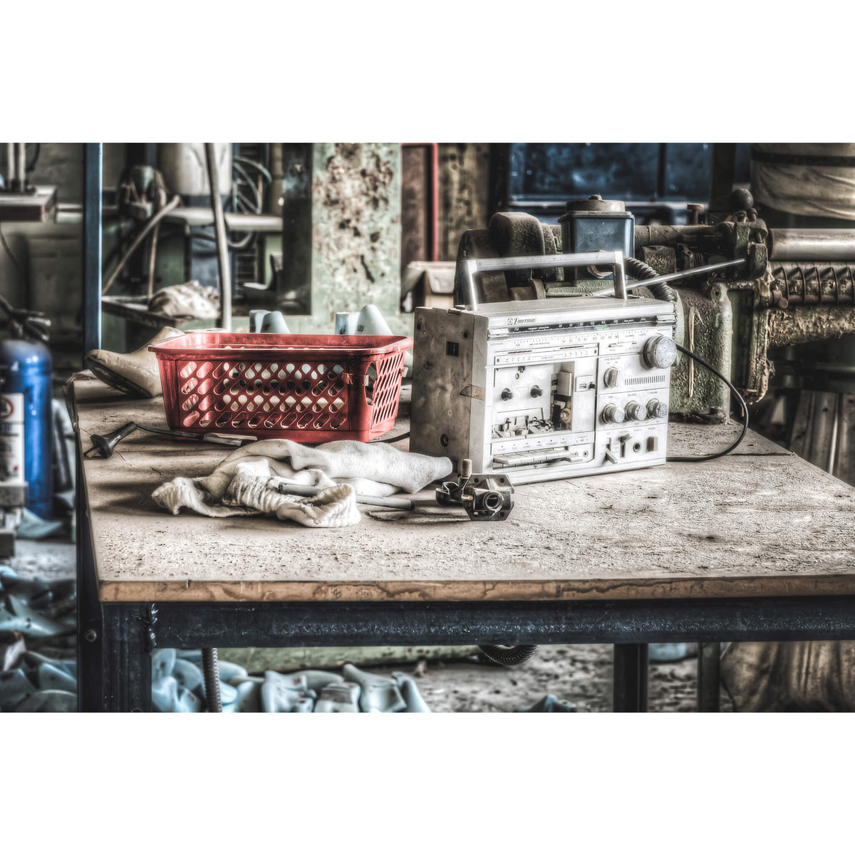 Radio | Abandoned Shoe Factory Fine Art Print - Lost Collective Shop