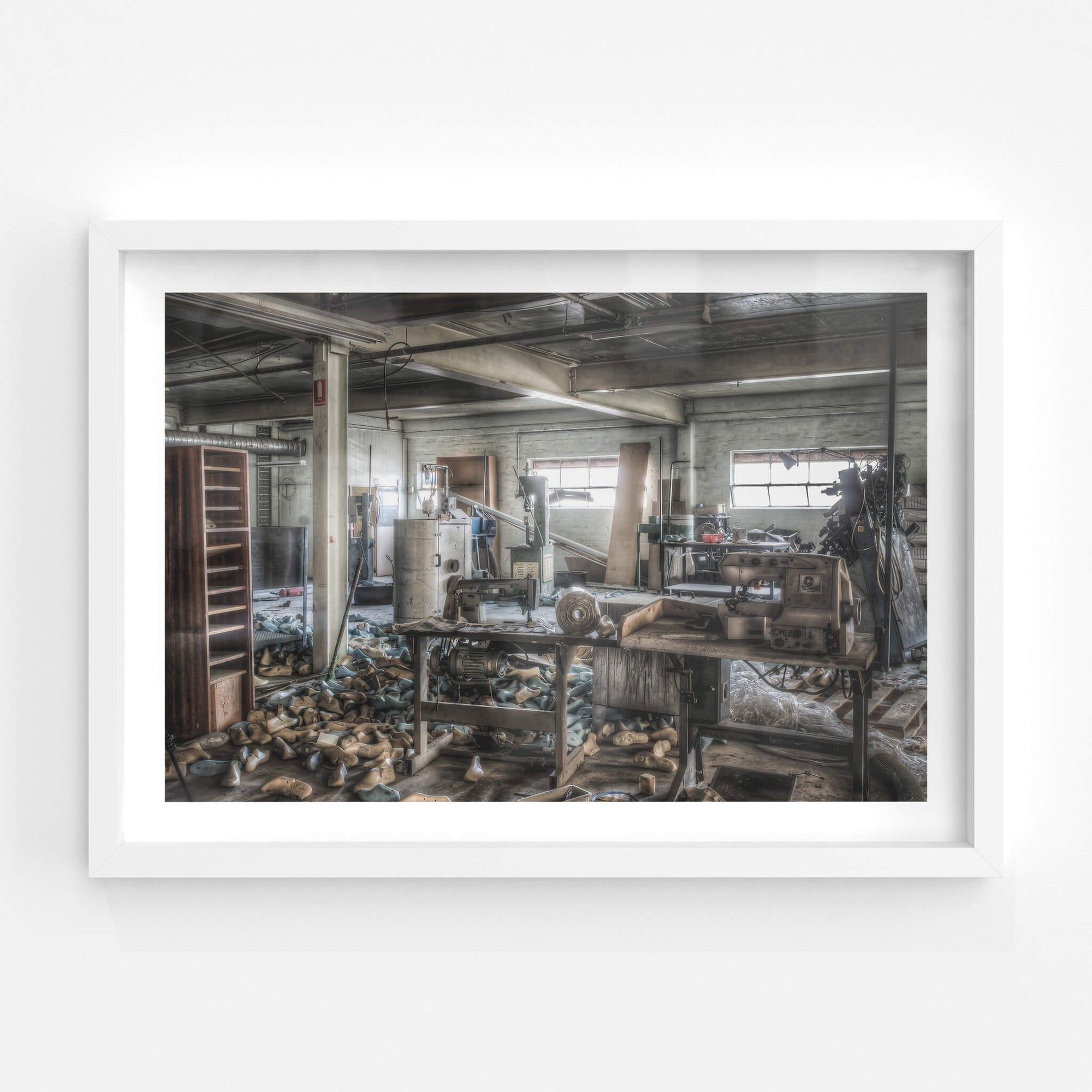 Sewing Desk | Abandoned Shoe Factory Fine Art Print - Lost Collective Shop