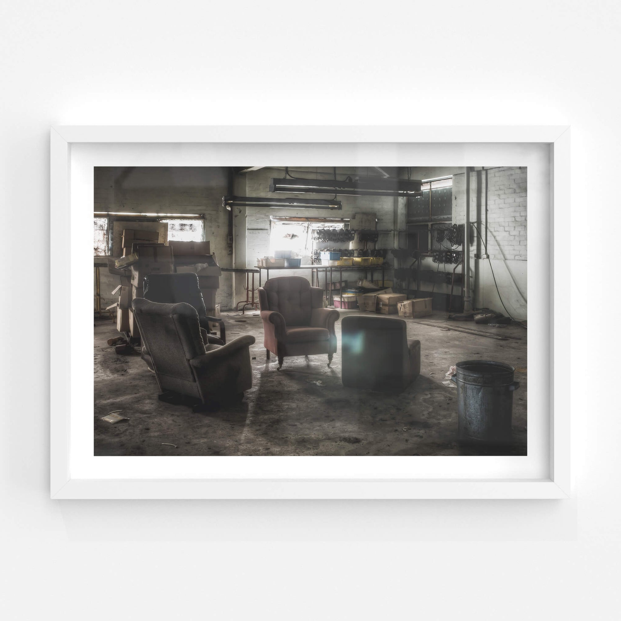 Smoko Area | Abandoned Shoe Factory Fine Art Print - Lost Collective Shop