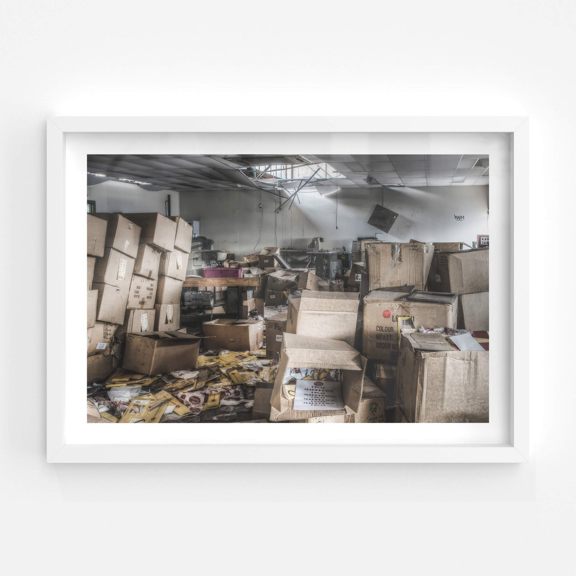 Upstairs Workshop | Abandoned Shoe Factory Fine Art Print - Lost Collective Shop