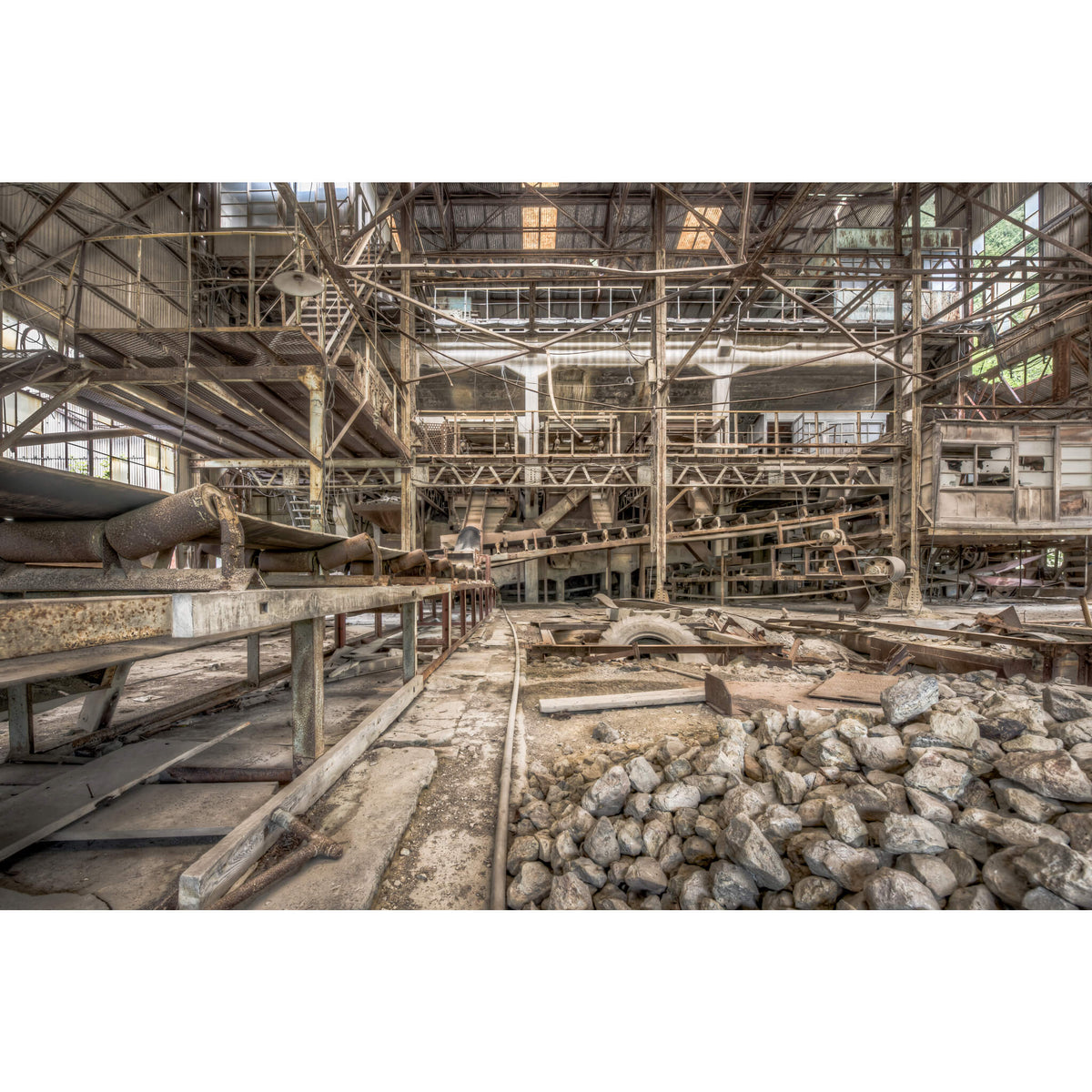 Raw Material Conveyors | Ashio Copper Mine Fine Art Print - Lost Collective Shop