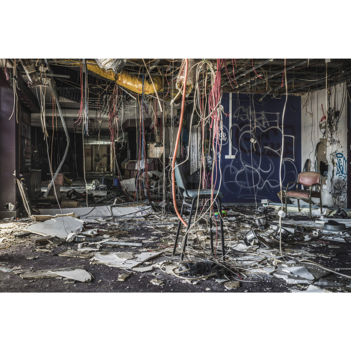 Stripped Cables | Balmain Leagues Club Fine Art Print - Lost Collective Shop