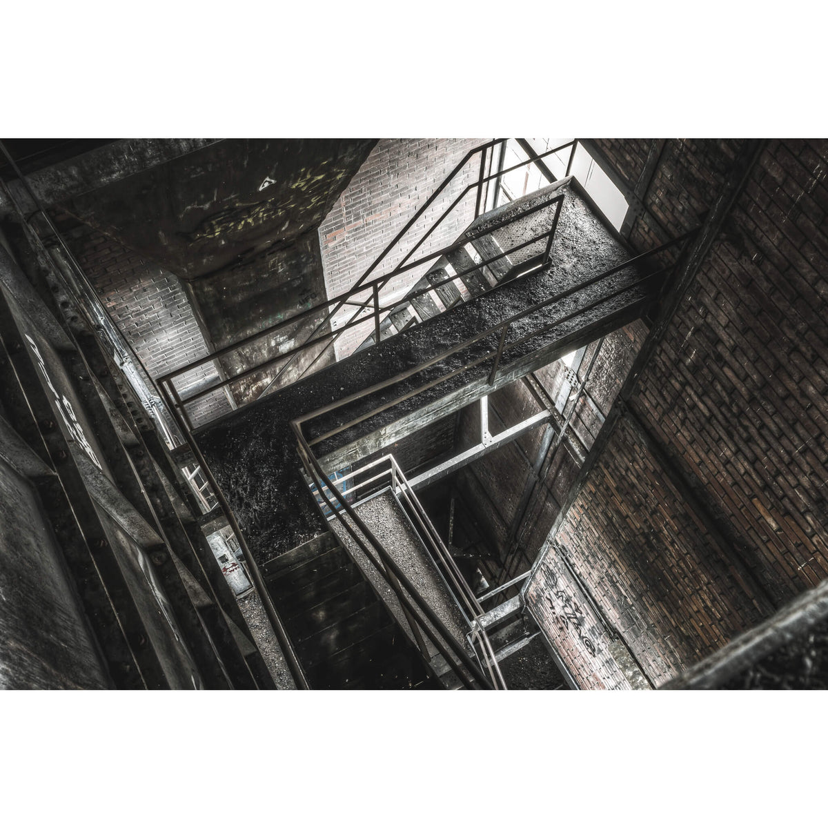 Looking Down Retort Building | Bathurst Gasworks Fine Art Print - Lost Collective Shop