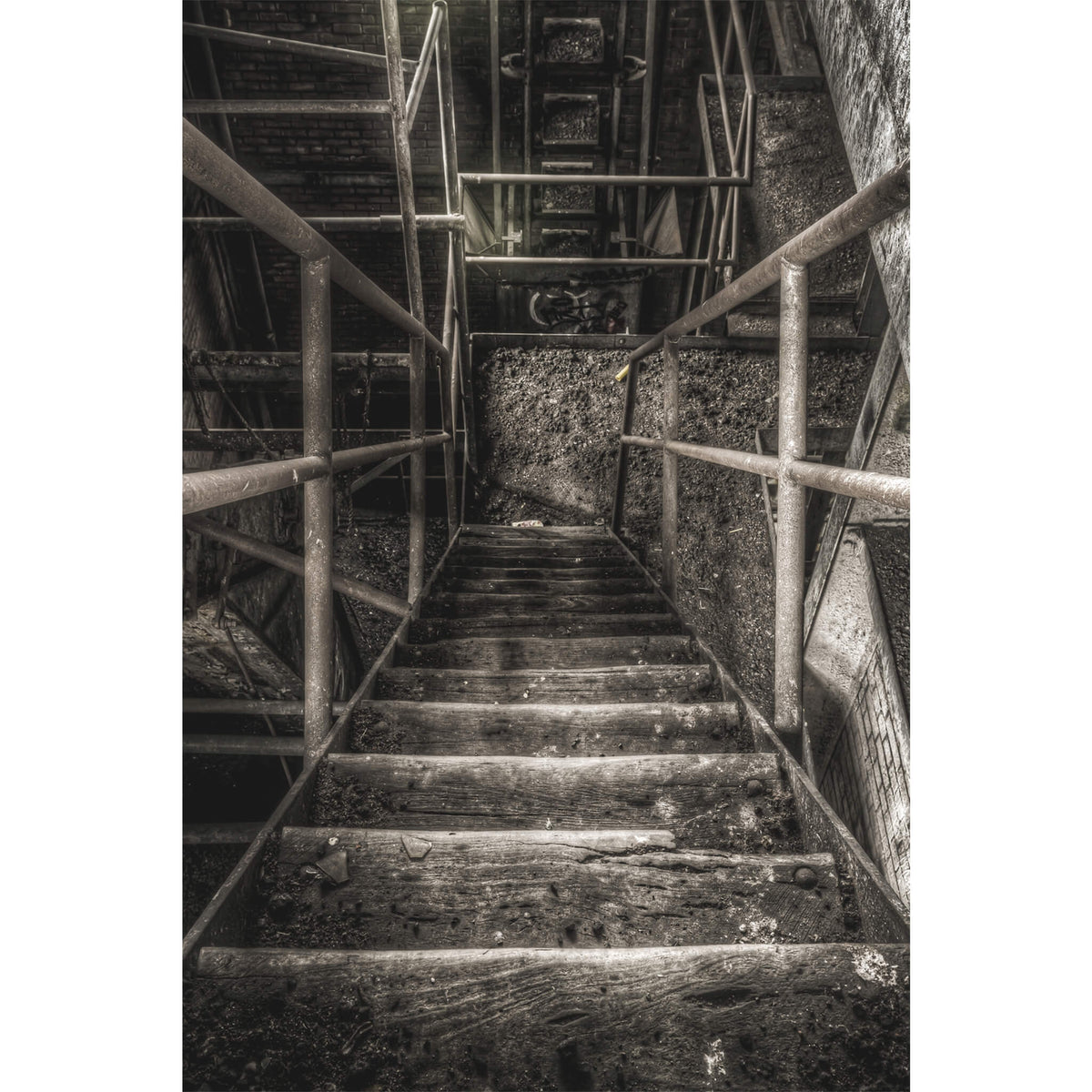 Stairs Down | Bathurst Gasworks Fine Art Print - Lost Collective Shop