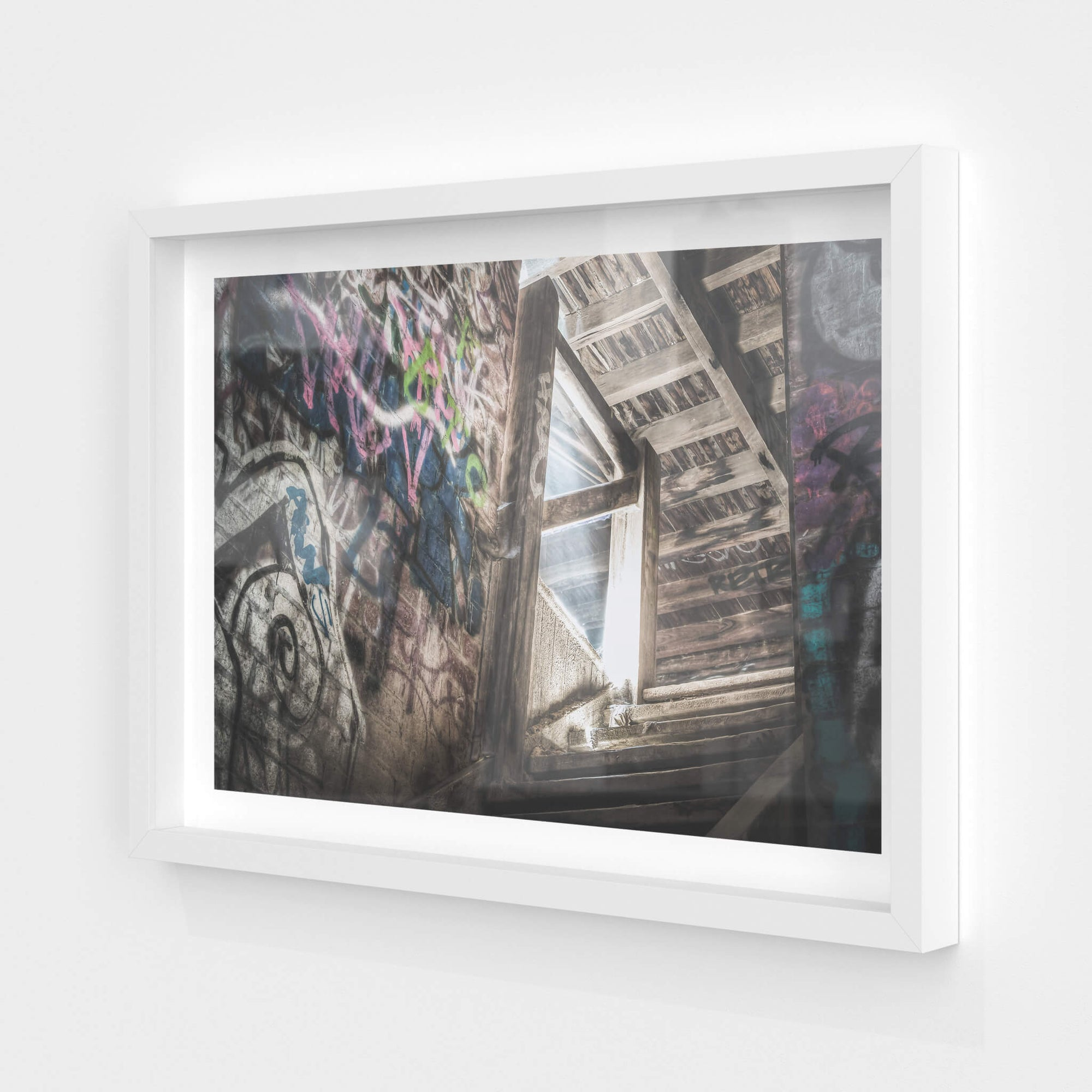 Lit Stairs | Box Hill Brickworks Fine Art Print - Lost Collective Shop