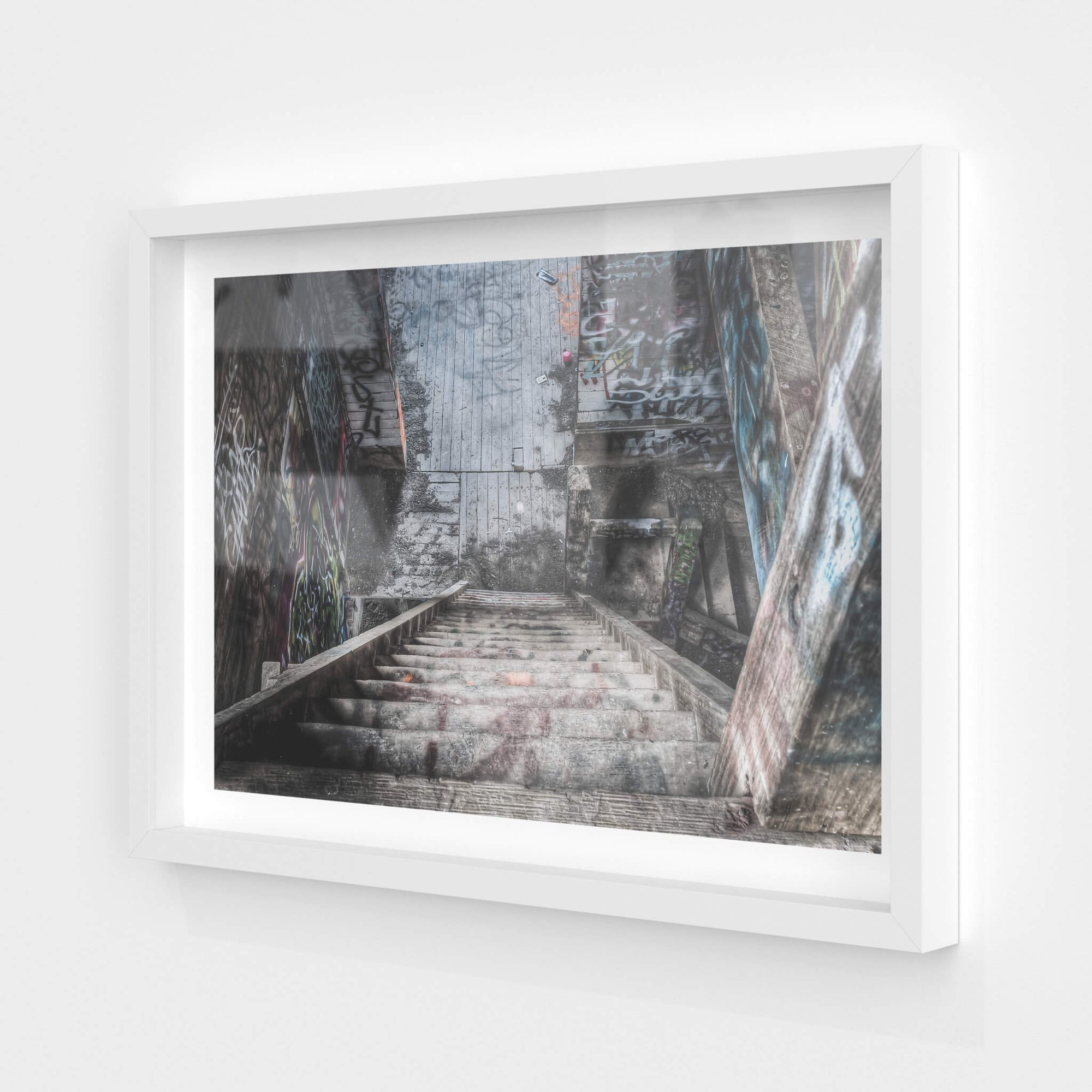 Stairs Down | Box Hill Brickworks Fine Art Print - Lost Collective Shop