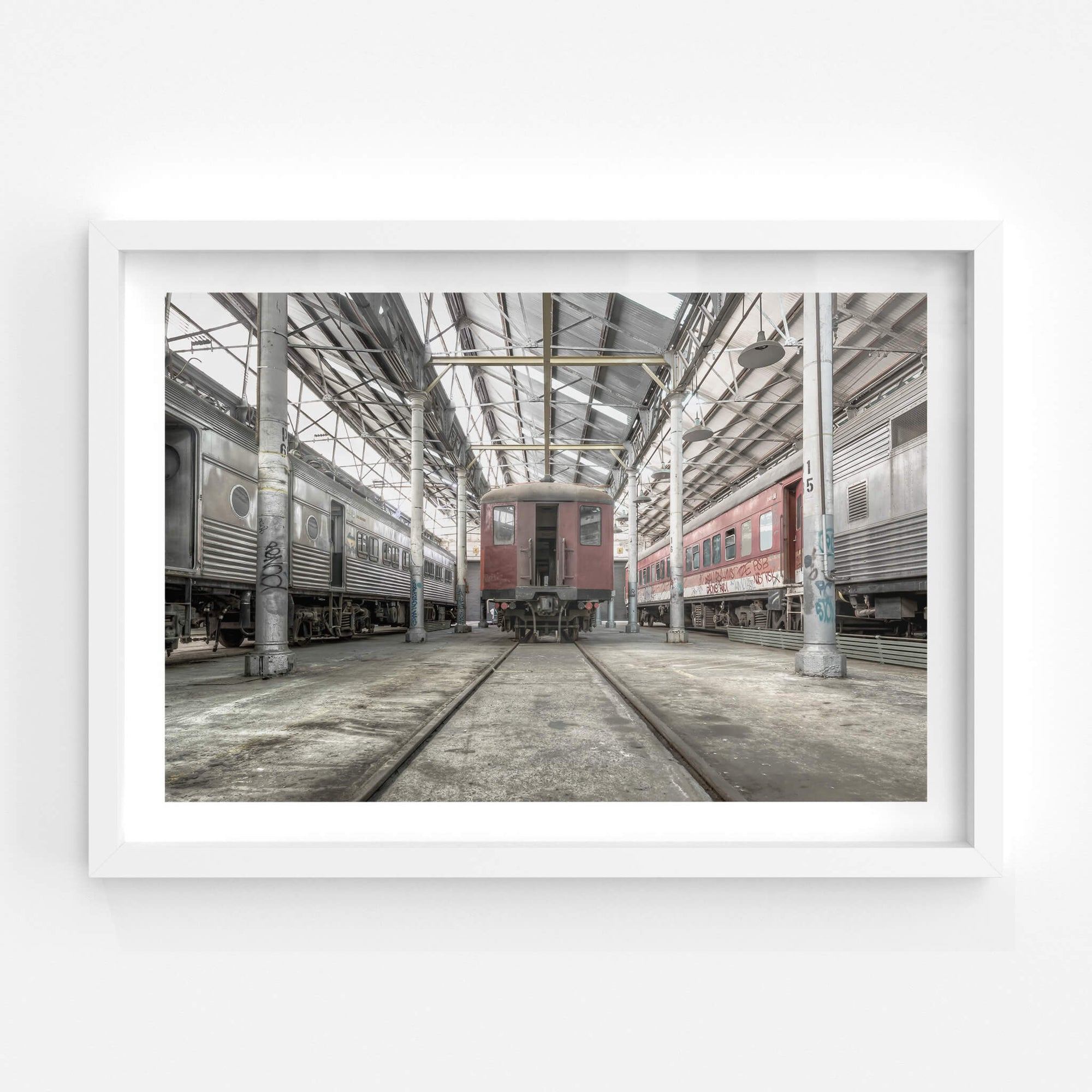 Red Rattler | Eveleigh Paint Shop Fine Art Print - Lost Collective Shop