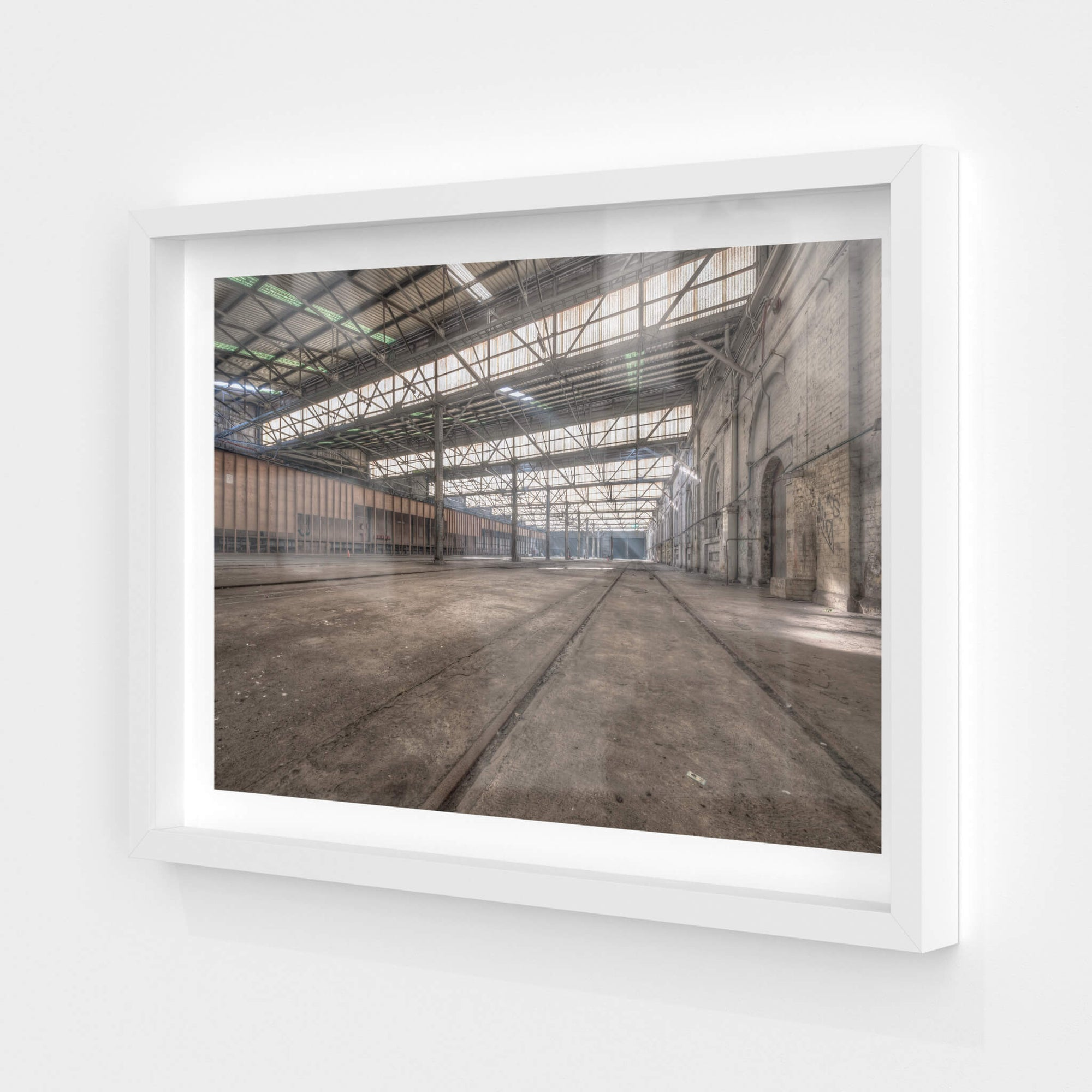 Suburban Car Workshop East | Eveleigh Paint Shop Fine Art Print - Lost Collective Shop